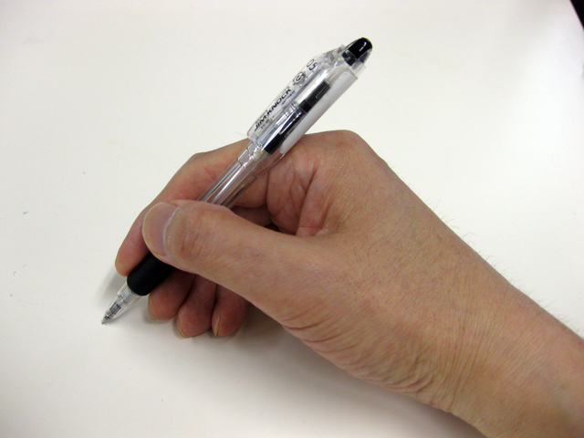 How to hold the pen